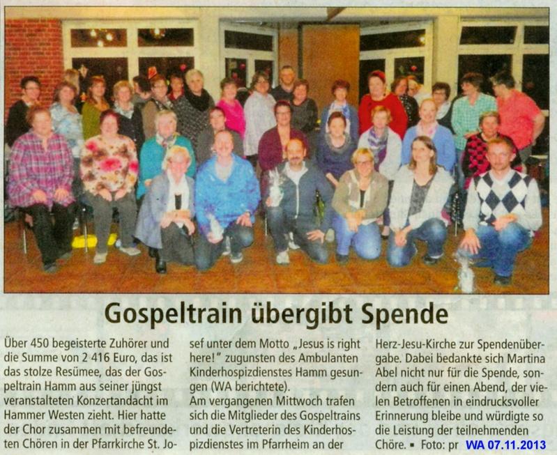© Westfälischer Anzeiger, Hamm,07.11.2013